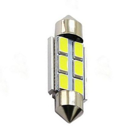 Lâmpada LED Automotiva Torpedo 6 Leds C5w 36mm