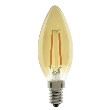 Lâmpada LED Vela Vintage E14 2W 220V Branco Quente | Inmetro