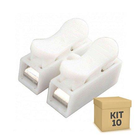 Kit 10 Conector de Fio LED 2 Vias - Sem Solda