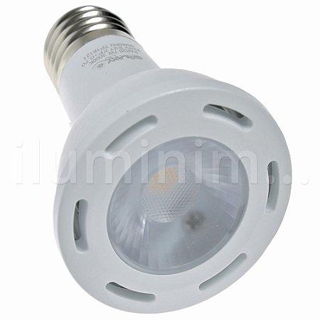 Lâmpada LED Par20 7W Dimerizável E27 220V Branco Quente