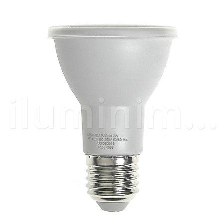 Lâmpada LED Par20 7W E27 220V Branco Frio | Inmetro