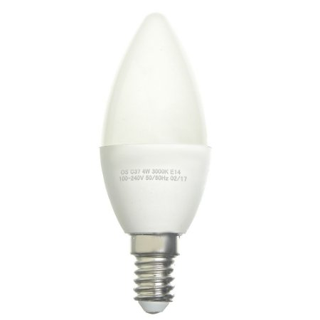 Lâmpada LED Vela Leitosa E14 4W Bivolt Branco Quente | Inmetro