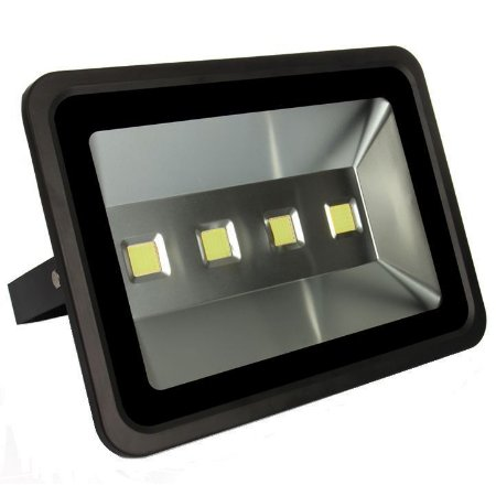 Kit 10 Refletor Holofote LED 200w Branco Frio Preto