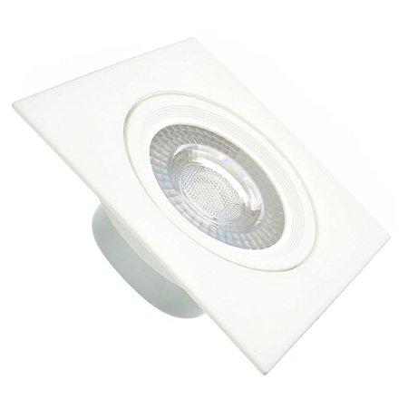 Spot LED SMD 6,5W Quadrado Branco Quente
