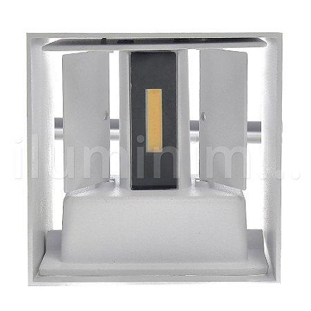 Luminária Arandela LED 6W Cubo Direcionável Branco Quente Branca