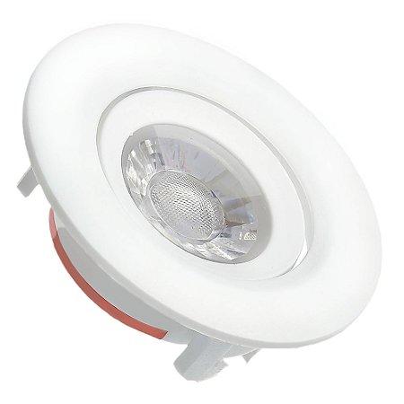 Spot LED SMD 3W Redondo Branco Quente