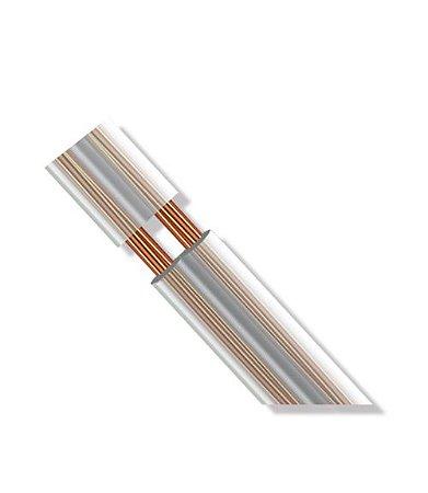Rolo de Fio Paralelo Flexível Cristal Cobre Nu para Instalação LED - 2x0,50mm² 100 metros
