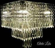 Luminária Plafon LED Cristal 30x33