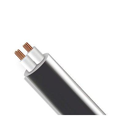 Rolo de Fio Flexível PP Redondo com Alma de Aço para Instalação LED - 2x0,75mm² 100 metros