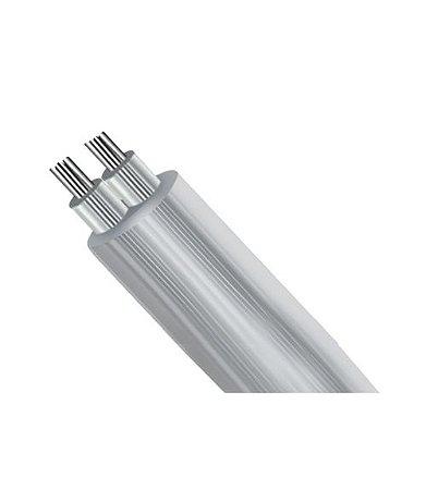 Rolo de Fio Flexível PP Redondo Cristal Estanhado c/ Alma de Aço para Instalação LED - 2x0,50mm² 100 metros