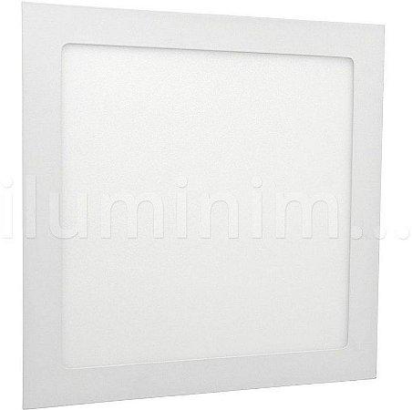 Luminária Plafon 30w LED Embutir Quadrado Branco Frio