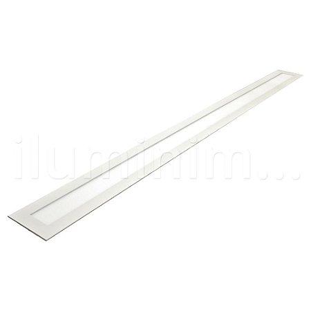Luminária Plafon 10x120 36w LED Embutir Branco Frio Borda Branca
