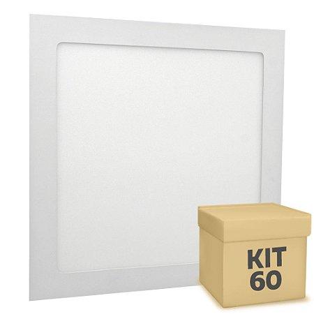 Kit 60 Luminária Plafon 25w LED Embutir Branco Neutro