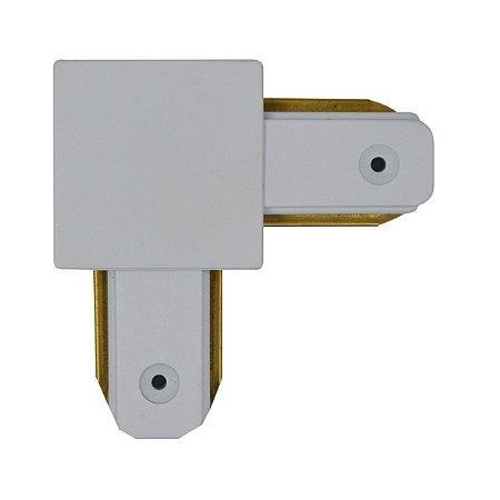 Conector Emenda tipo L para Trilho Eletrificado LED Cor Branca