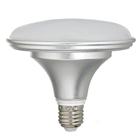 Lâmpada LED Prato 18W Bivolt Prateada Branco Neutro | Inmetro