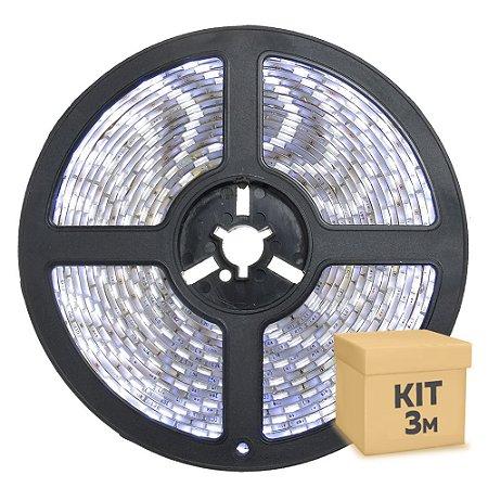 Fita LED Branco Frio 3528 3 metros com Fonte