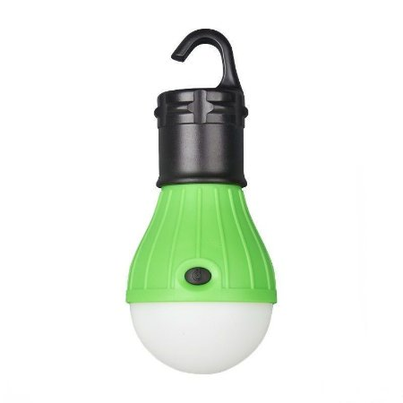 Lampada Led Camping Pesca Lanterna Com Gancho Acampamento Verde | Inmetro