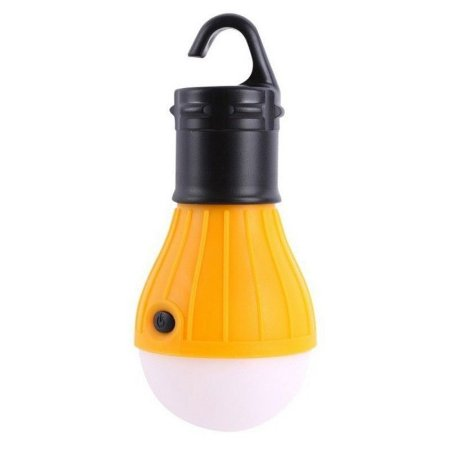 Lampada Led Camping Pesca Lanterna Com Gancho Acampamento Laranja