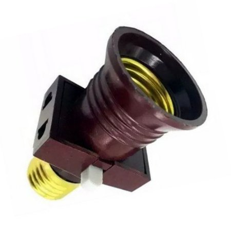 Soquete Interruptor Bocal Lâmpada E27 Com Tomada Embutida