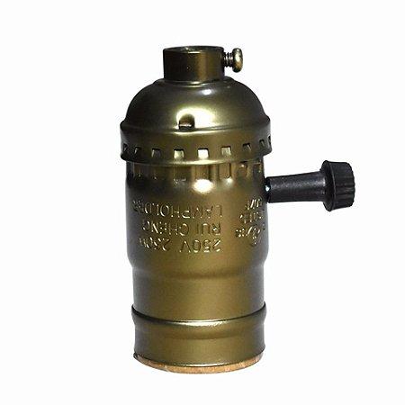 Soquete Bocal Antigo Vintage Retro Bronze Lampada E27 Antique Brass