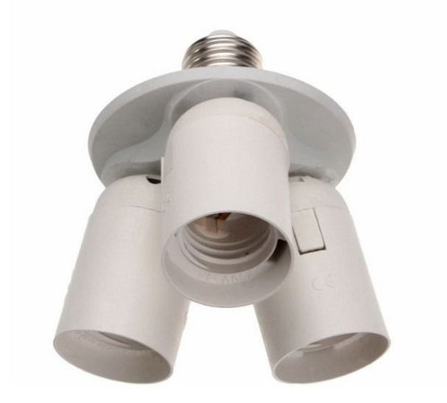 Soquete Para Ligar 3 Lâmpadas - Adaptador Triplo - Bocal E27