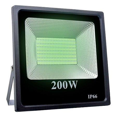 Refletor Holofote MicroLED SMD 200W Verde