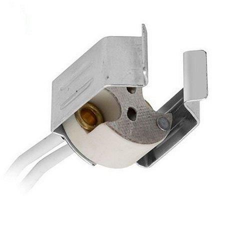 Soquete Para Lâmpada LED Dicróica G4 com Rabicho e Abraçadeira