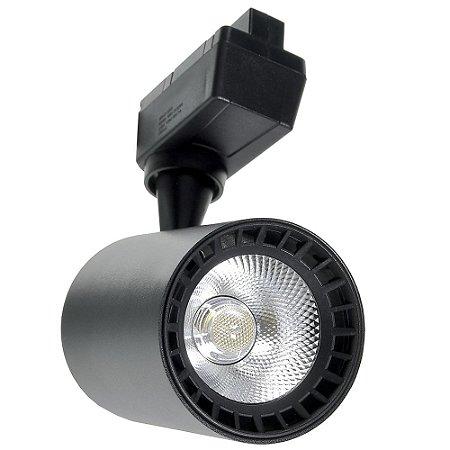 Spot LED 24W Branco Quente para Trilho Eletrificado Preto