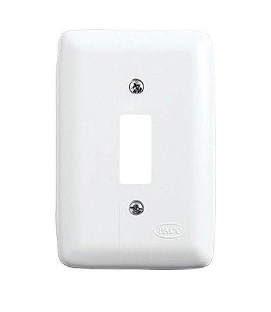 Placa para 1 Interruptor Branca