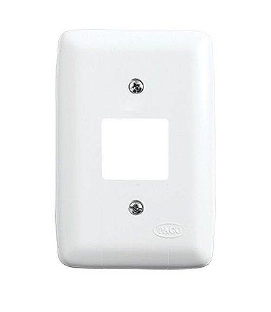 Placa para 2 Interruptores Branca