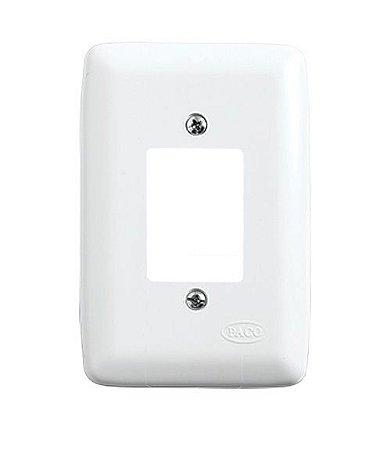 Placa para 3 Interruptores Branca