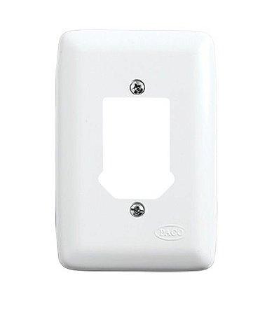 Placa para 2 Interruptores + 1 Tomada Branca
