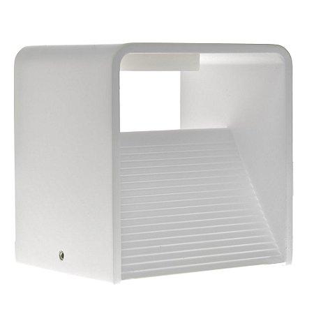 Luminária Arandela LED 6W Branco Quente Cubo Branca