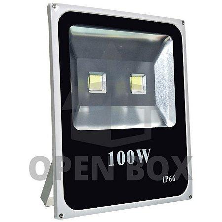 Refletor Holofote LED 100w Branco Quente - Open Box