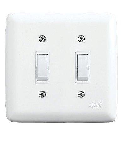 Conjunto 2 Interruptores Paralelos 10A 250V Branco
