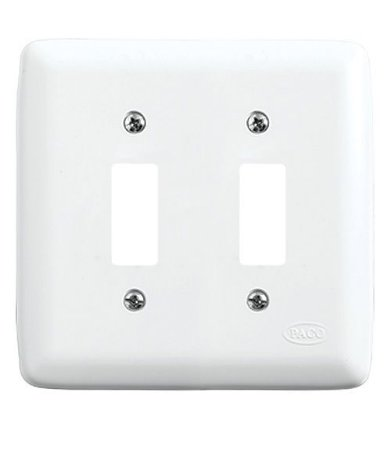 Conjunto Placa para 2 Interruptores