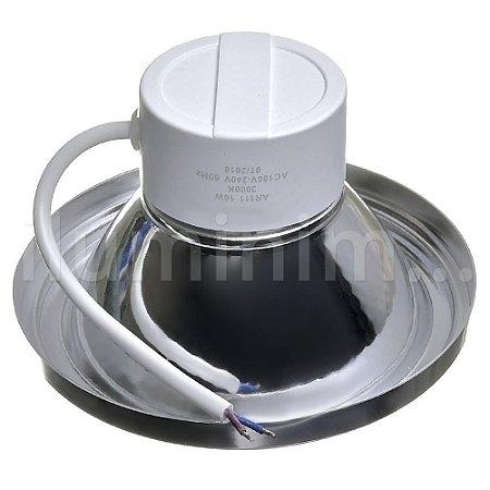 Lâmpada LED AR111 10W de Embutir Branco Quente | Inmetro