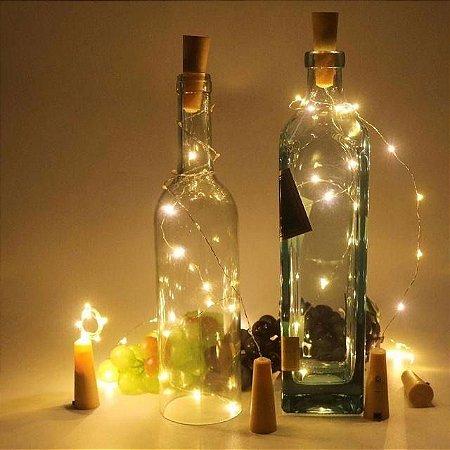 Fio de Luz LED com Rolha para Garrafa - Luz de Fada