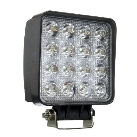 Farol de Milha LED Quadrado 48W Auxiliar Automotivo
