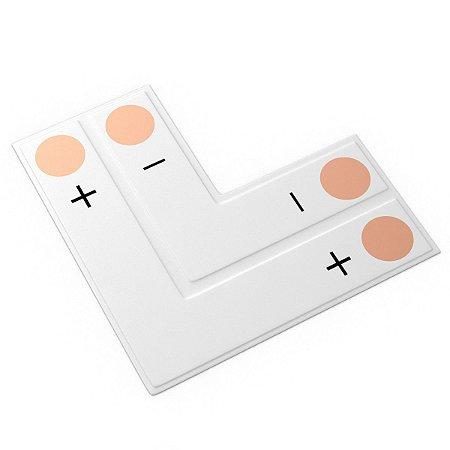 Conector PCB em L para Fita Led 8mm 2 Vias