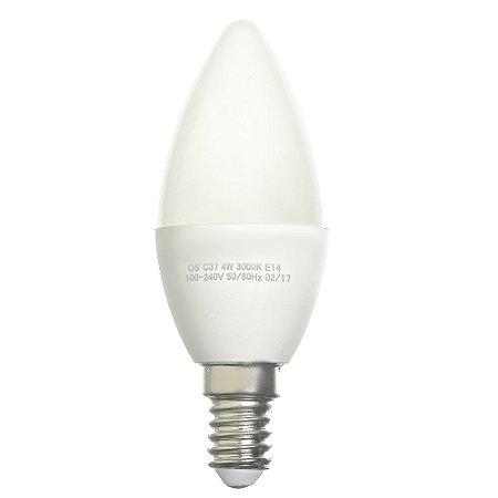 Lâmpada LED Vela Leitosa E14 4w Bivolt Branco Frio | Inmetro