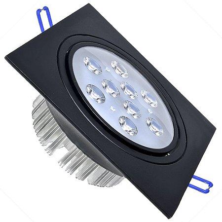 Spot 9W Dicróica LED Direcionavel Base Preta