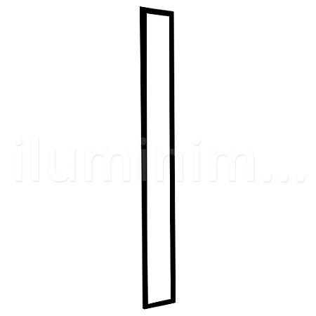 Luminária Plafon LED 15x120 36w Embutir Branco Frio Preto