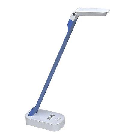 Luminária de Mesa LED 4W Portátil com Entrada USB - Azul