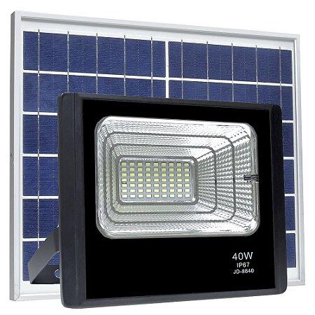 Refletor LED Solar 40w 63 Leds Auto Recarregável