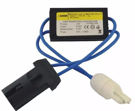 Resistor Canceller Canbus Soquete T10 5W para LED