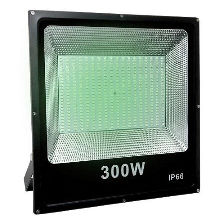 Refletor Holofote MicroLED SMD 300W Verde
