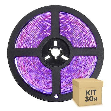 Fita LED Rosa 5050 30 metros com Fonte/Carregador IP65 - À prova d'água