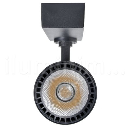 Kit Trilho Eletrificado 1m + 2 Spot LED 10W Branco Quente Preto