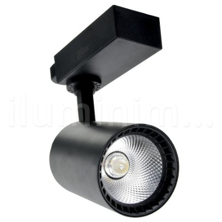 Kit Trilho Eletrificado 1m + 2 Spot LED Cob 10W 3000K Preto